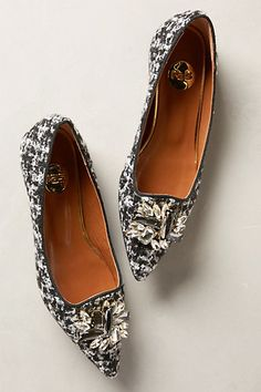 tweed jeweled flats - 20% off today! #anthrofave