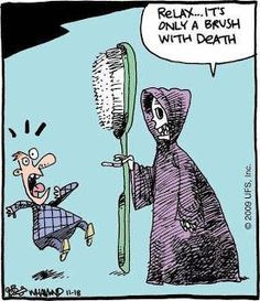 A Brush with Death. Halloween Funny