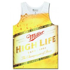 Miller High Life Sublimated Tank Top. Official from Miller High Life!