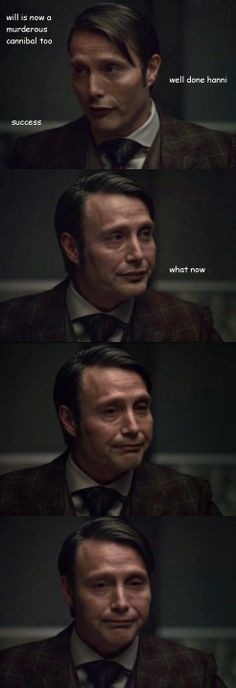 The struggle. And omg look at that face at the end , so much cuteness ...   #Hannibal