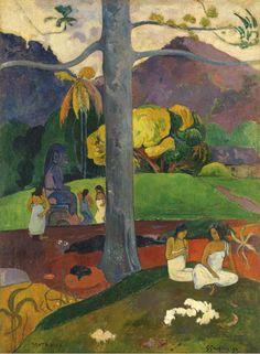 "Paul Gauguin,""Mata Mua"", 1892  Found on connaissancedesarts.com"