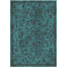 Loon Peak Canyonwood Blue/Brown Area Rug Rug Size: x Aqua Rug, Aqua Area Rug, Ikea Home, Contemporary Rugs, Green And Brown, Rug Size, Decorative Pillows, Home Decor, Brown Rugs