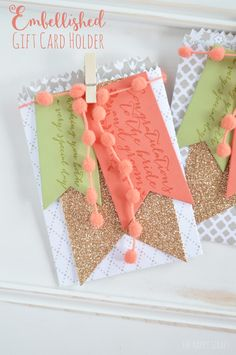 Embellished gift card holders - perfect for weddings!