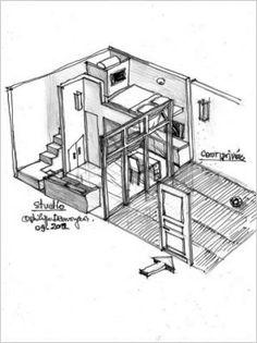 am nagement studio paris 10m2 fonctionnels d cor et id es studio pinterest toit paris. Black Bedroom Furniture Sets. Home Design Ideas