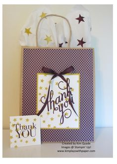 Stampin Up Another thank you stamp set gift bang and tags set