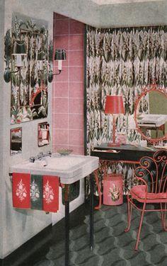 1950s Bathroom Decor