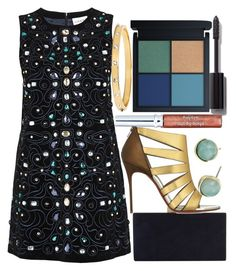 """""""Dress Colors"""" by egordon2 ❤ liked on Polyvore featuring Ganni, Monsoon, Christian Louboutin, Chanel, Sisley, Cole Haan, Kate Spade, awesome, cool and party"""