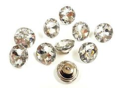 Crystal Upholstery Buttons | eBay