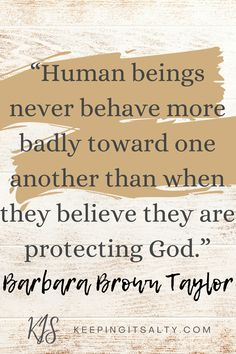 Barbara Brown Taylor is a priest in the Episcopal Church, yet she doesn't usually attend church. Let's take a look at her unusual approach to Christian spirituality and her exploration of spiritual vs religious topics in her book Leaving Church. #spiritualvsreligious #Christianspirituality #BarbaraBrownTaylor #Christianbooks #spiritualbooks Episcopal Church, Experiential, Priest, Spirituality, Inspirational Quotes, Christian, Let It Be, Brown, Life Coach Quotes