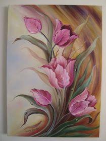 Bildergebnis für Douglas Frasquetti - My CMS Tulip Painting, Acrylic Painting Flowers, Acrylic Painting Techniques, China Painting, Acrylic Art, Acrylic Painting Canvas, Fabric Painting, Canvas Art, Arte Floral