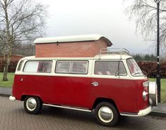 1972 Classic VW Bay Window Red Camper Van Tax Exempt in Cars, Motorcycles & Vehicles, Classic Cars, Volkswagen Bus Camper, Van For Sale, Campers For Sale, Volkswagen Bus, Workout Guide, Bay Window, Classic Cars, Red, Automobile