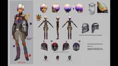 As part of Sabine's new Season 3 character model, her armor has an illustration of the convor owl described to her by Ezra. | Steps Into Shadow Trivia Gallery | StarWars.com