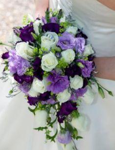 Light lavender and dark purple lisiantha...smaller bouquet size though