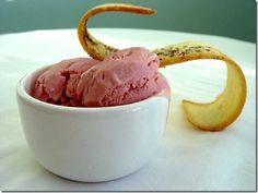 Strawberry and Pomegranate Frozen Yogurt