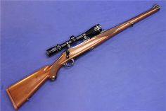 This is a rare Ruger 77 RSI International rifle with red recoil pad in .22-250 Remington.  It comes outfitted with an excellent Leupold scope - click the photos for more details.