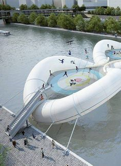 Trampoline Bridge in Paris !!  www.mostawesomedaily.com