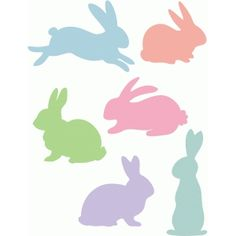 Silhouette Design Store - View Design #57884: bunnies
