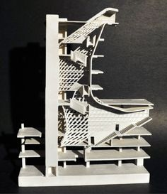 """esigner: Thom Mayne, Morphosis Architects  Project: The Cooper Union/ 41 Cooper Square   Model dimensions and materials: 9 1/2""""H x 7 1/4""""W x 1 1/2""""D"""