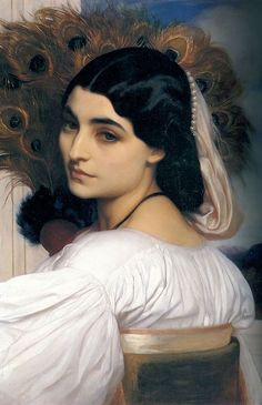 lord freder, peacock feathers, pavonia, frederick leighton, freder leighton, the artist, paint, victorian era, portrait
