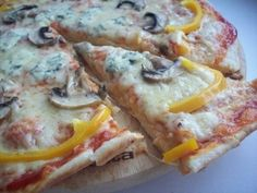 Pizza «3 cheese» with mushrooms