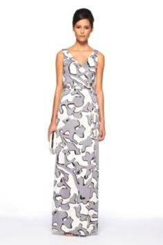 DVF | Yazhi Dress In Graphic Bracconier Neutral, Spring 2012: Beginnings