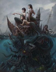 Creepy mermaids