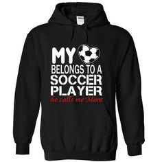 My heart belongs to a soccer player, he calls me mom - #gift for her #grandma gift. ADD TO CART => https://www.sunfrog.com/Sports/My-heart-belongs-to-a-soccer-player-he-calls-me-mom-9423-Black-17484082-Hoodie.html?68278