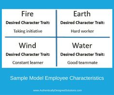 What characteristics are important to you?