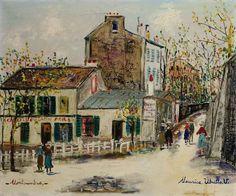 Le lapin agile à Montmartre, Maurice Utrillo. French (1883 - 1955)