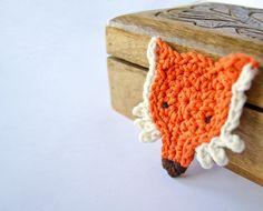 Fox Applique PDF Crochet Pattern Instant by oneandtwocompany