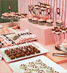 "I like the idea of mixing candy bar with "" sweets"" so maybe cake pops"