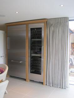 Kioni Stripe- Cloud full length pinch pleat curtains in modern kitchen