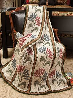 ❤❤❤ TUNISIAN AFGHANS ❤❤❤ Lovely tunisian crochet design patterns that gives the appearance of knitting - 5 more design patterns to choose from - Intermediate ~ Crochet Afghan / Blanket Pattern