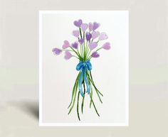 New+Original+Watercolor+Painting++Valentine's+Day+gift+by+LaBerge,+$49.00