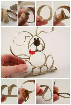 Technique de découpage pour réaliser un lapin de Pâques tout mignon. 15 Activités manuelles avec du rouleau de papier toilette pour amuser les enfants à Pâques