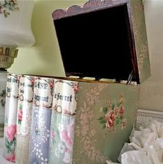 Pretty Wallpaper Book Box