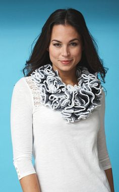 Pirouette Cowl from @Michaels Stores - Delicate and lacy! This free knitting pattern looks good and can be worn all year long.