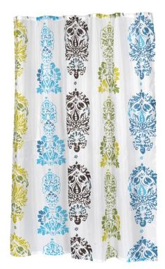 Better Homes and Gardens New Castle Fabric Shower Curtain ...