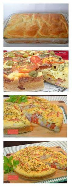 Torta Pizza de Liquidificador veja>> salve este pin Pique os tomate e tempere com sal e orégano, reserve. Coloque no liquidificador #pizza#torta#bolo#salgado