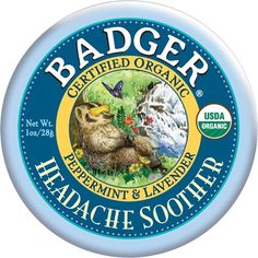 Badger Peppermint & Lavender Headache Soother