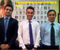 #Frankfinn wants to congratulate Vivek (from NDSE center), Aakash (from Rajouri Garden center), and Dipankur (from Ludhiana center), who made it to GoAir We wish them best of luck for their career.
