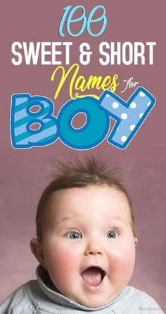 100 Sweet And Short Names For Boys With Meanings - - Searching for short and sweet baby boy names which are easy to remember? Check out our picks of the 100 best short boy names along with meanings. Simple Boy Names, Short Baby Boy Names, Rustic Boy Names, Boy Middle Names, Cool Boy Names, Unique Baby Boy Names, Best Baby Names, Dog Names, Mini Pizzas