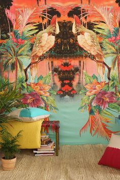 Magical Thinking Birds Of Paradise Tapestry #urbanoutfitters