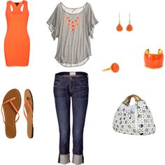 orange and gray, created by me (jewill928.polyvor...)