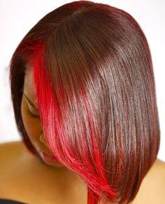 sensational red  By Marguerite @meschhairstudio