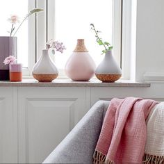 A windowsill full of delicate news from the gorgeous spring/summer 2017 collection. Design Vase, Modern Ceramics, Window Sill, Pretty Pastel, Living Room Inspiration, Decoration, Home Accessories, Interior Decorating, Interior Ideas