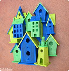 Birdhouse garden sculpture inspired by Anthropologie - fun to make with your kids!