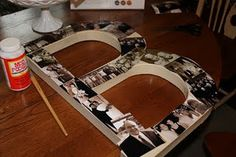 DIY photo letter ~ can't wait to try this!!!