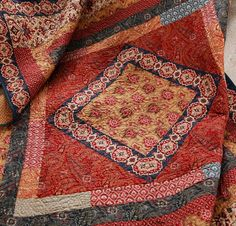 "Haute Bohemian Quilt Kit - Finished Measurements: 56"" x 65"" Supplies- Rue Indienne by French General Fabric Included: 4- ¼ yard cuts 2- ½ yard cuts 2- 1½ yard cuts 1- ¾ yard cut 1- 2 ½ yard cut"