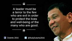 'Take No Prisoners' Philippines President Rodrigo Duterte warned what he would do about Islamic terrorists last year Filipino Funny, President Of The Philippines, Current President, War On Drugs, Political Science, Quotable Quotes, Wise Quotes, Presidential Election, Prison